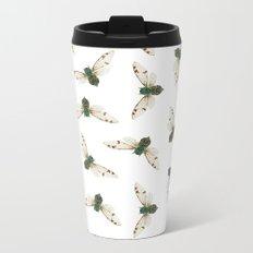 Cicada Jewels (White & Noir) Metal Travel Mug