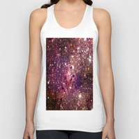 galaxy Tank Tops featuring Galaxy : Coral Gold Eagle Nebula by Space & Galaxy Dreams