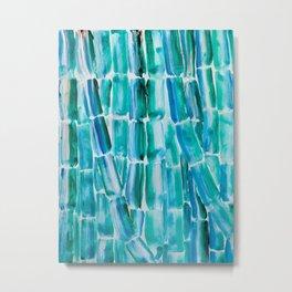 Classic Blue Sugarcane Metal Print