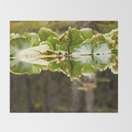 Lily Pad Photography Print Throw Blanket