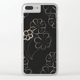 Light Sepia Flower Pattern #1 #drawing #decor #art #society6 Clear iPhone Case