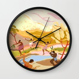 Dancing in Paradise Wall Clock