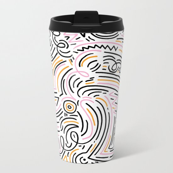 squiggle wiggles Metal Travel Mug