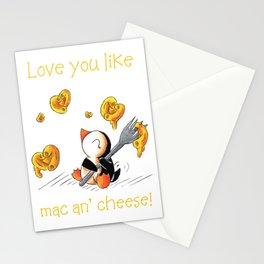 Gooey, Cheesy Hearts Stationery Cards