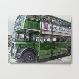 Green Bus Metal Print
