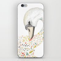 swan iPhone & iPod Skins featuring Swan by Gabriella Barouch Illustration