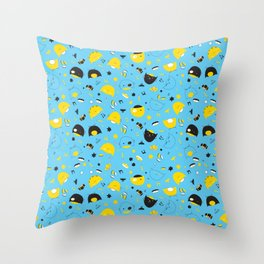 Hannukats Blue Throw Pillow
