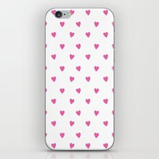 Flying Hearts (Pink) iPhone & iPod Skin