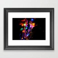 Wrapped Up in Lights Framed Art Print