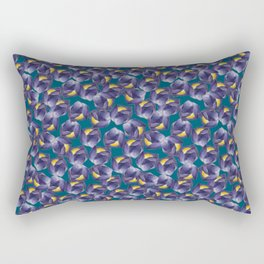 Blue tulip Rectangular Pillow