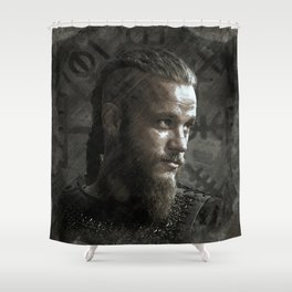 Ragnar Lodbrok - Vikings Shower Curtain