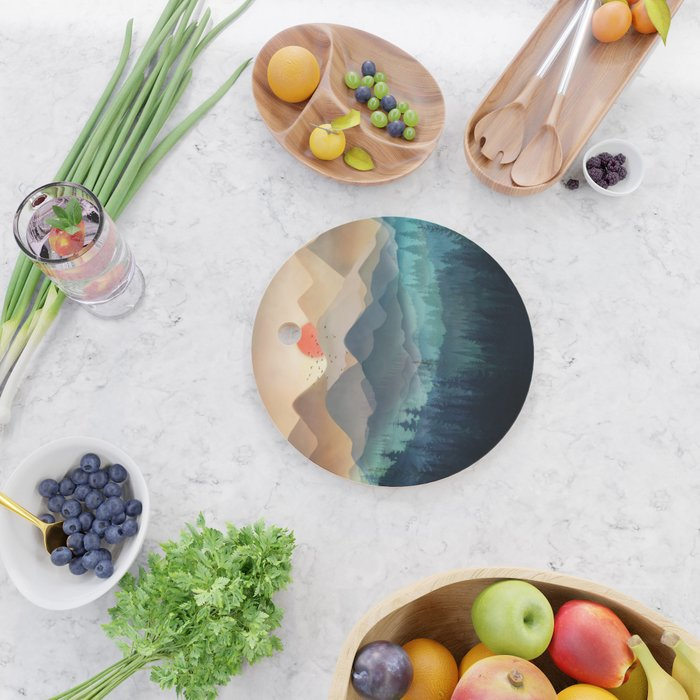 Wilderness Becomes Alive at Night Cutting Board