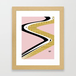 Abstract Blush II #kirovair #design #minimal #society6 #buyart Framed Art Print
