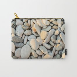 Pebble stones on the beach Carry-All Pouch