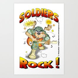 SOLDIERS ROCK NOBKGRND Art Print