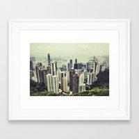 hong kong Framed Art Prints featuring Hong Kong by Martin Llado