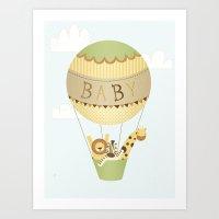 Baby Balloon Art Print