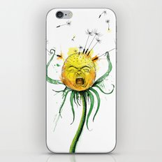 Angry Flower Whimsical Art iPhone & iPod Skin