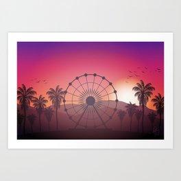 Festival Inspired Sunset Art Print