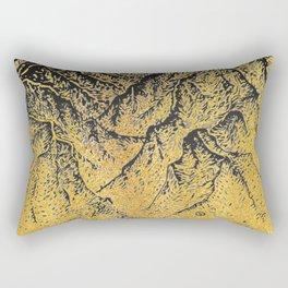 """遠望 series -""""Gold Valley"""" - Linocut Rectangular Pillow"""