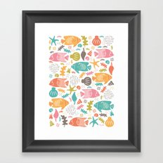 Retro Fish Framed Art Print