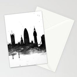 London, black and white Stationery Cards