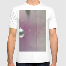 pink silver White Mens Fitted Tee MEDIUM