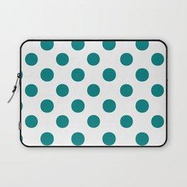 Polka Dots (Teal/White) Laptop Sleeve