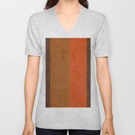 Shades of Brown Unisex V-Neck