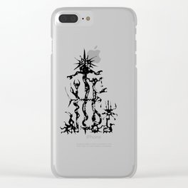 cool sketch 161 Clear iPhone Case