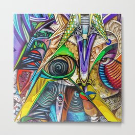 Colorful Graffiti Metal Print