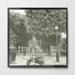 Paris Moped Metal Print