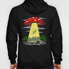 Alien Abduction Magic Mushrooms Psychedelic UFO Hoody