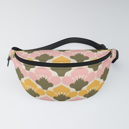 Yellow & Pink Flower Pattern Fanny Pack