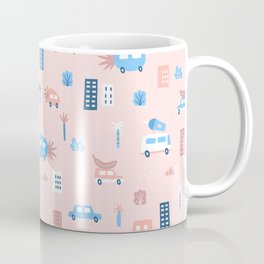 Fruit city and cars Coffee Mug
