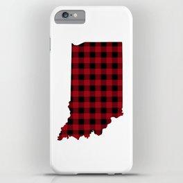 Indiana - Buffalo Plaid iPhone Case