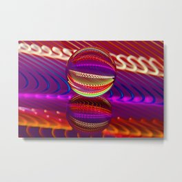Brilliance in the crystal ball Metal Print