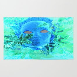 Born of the Sea Mask Rug