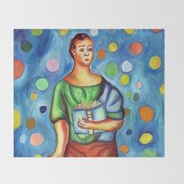 Sario Painter, a juggler poet. Throw Blanket