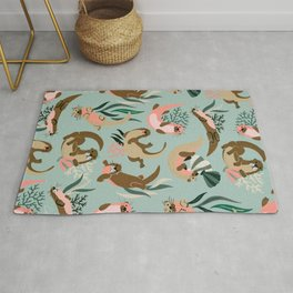 Otter Collection - Mint Palette Rug