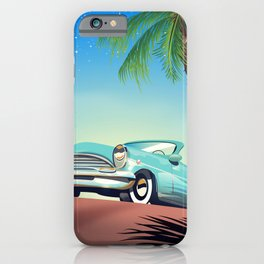 Classic Car vintage poster iPhone Case