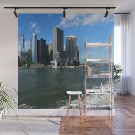 Manhattan Skyline From The Hudson River Wall Mural