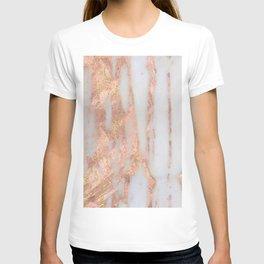 Aprillia - rose gold marble with gold flecks T-shirt