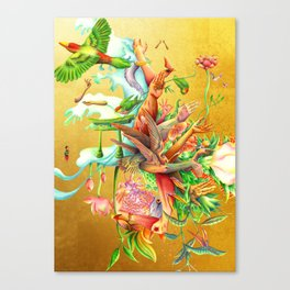 生まれサークル Umare Circle Canvas Print