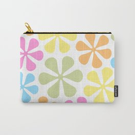 Abstract Flowers Bright Color Mix Carry-All Pouch