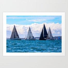 Yachting on Sydney Harbour. Sydney. Australia. Art Print