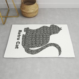Cat Polkadots V1, cat fan, cat lover, retro Rug