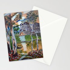naive painting Stationery Cards