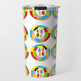Multicolor circles II-abstraction,abstract,geometric,geometrical,pattern,circle,sphere Travel Mug