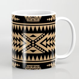 Fine Aztec black and brown pattern for country house decoration Coffee Mug